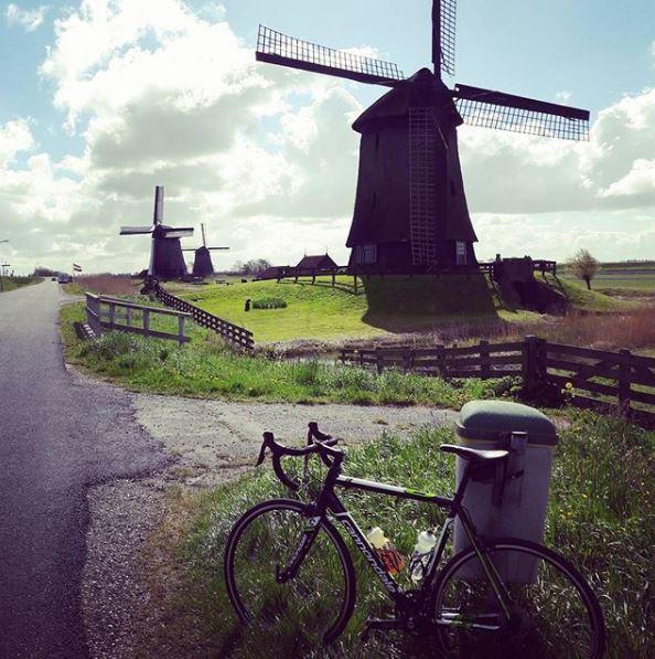 fiets bij molens