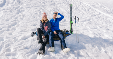 Man en vrouw in de sneeuw