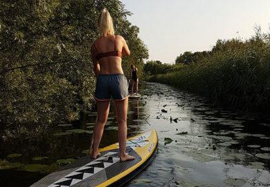 Vrouw op supboard