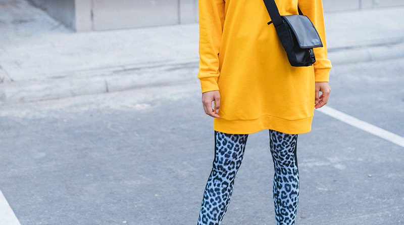 Legging en oversized trui